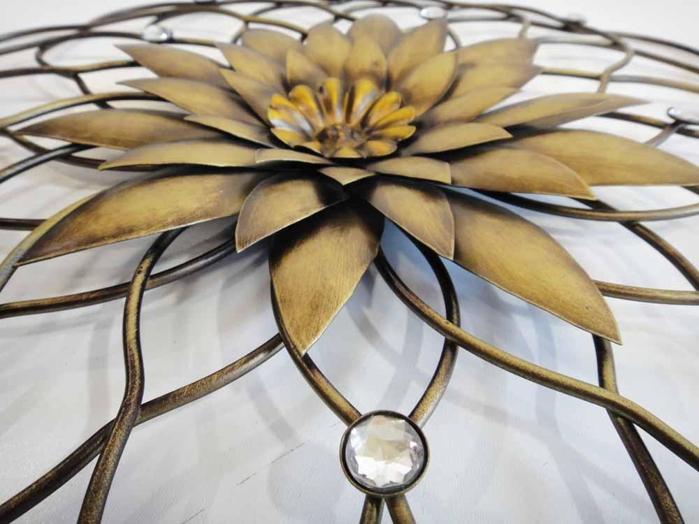 gold metal flower wall decor
