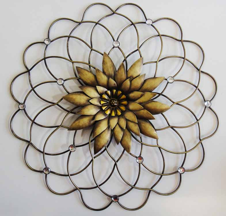 NEW Contemporary Metal Wall Art Decor Or Sculpture - Gold ...