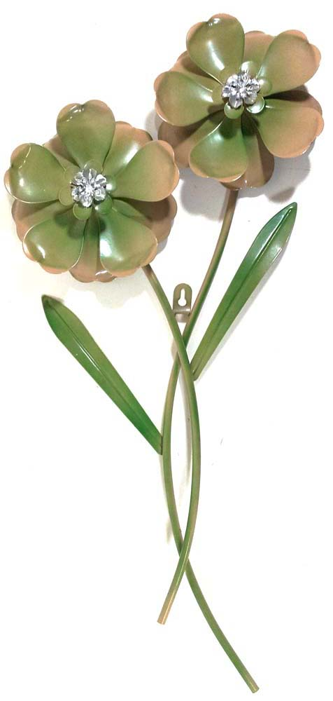 Green Metal Wall Art Interesting Metal Wall Art Green Flower Pair Review