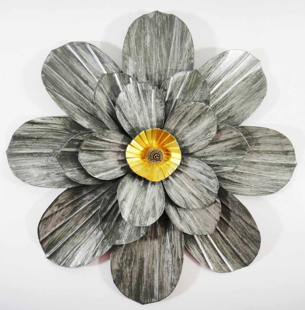 Contemporary metal wall art modern range brilliant for Metal flower wall art