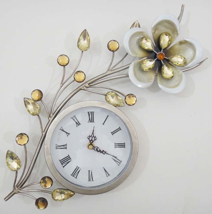 Wall Clock Artwork : Art wall clock metal iyodd with