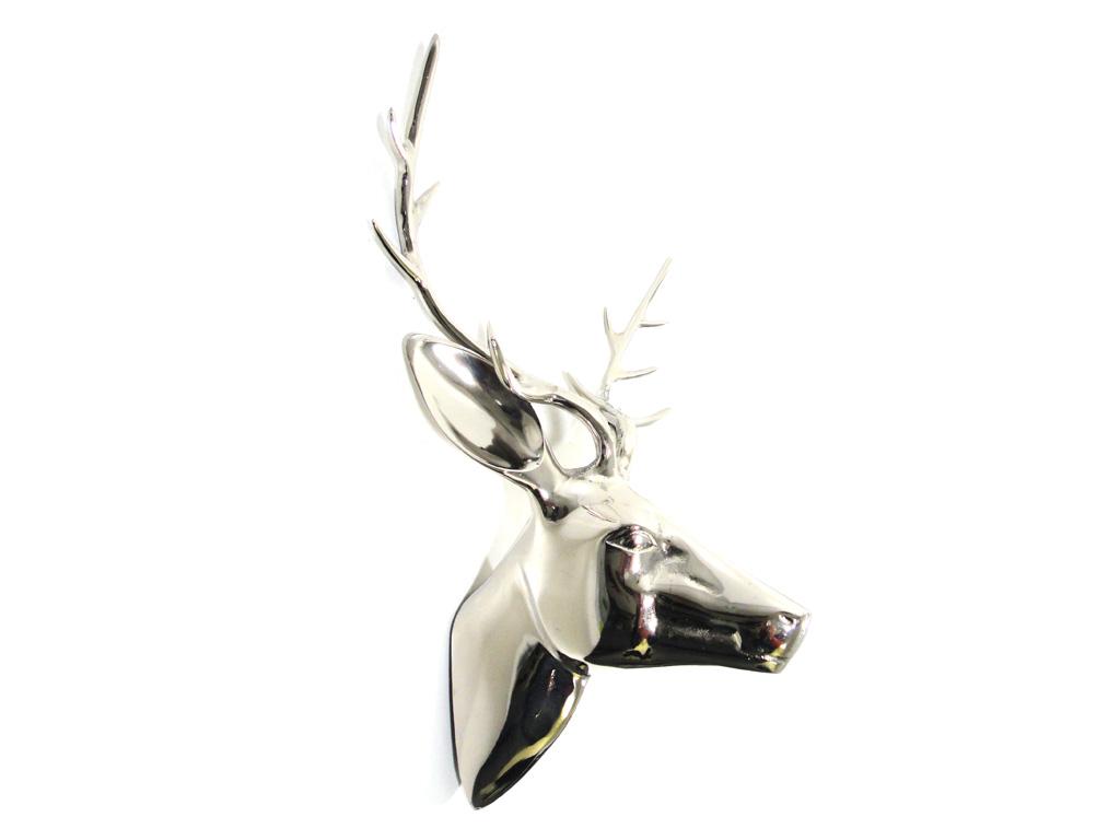 Metal wall art large deer stag head for Large metal wall art