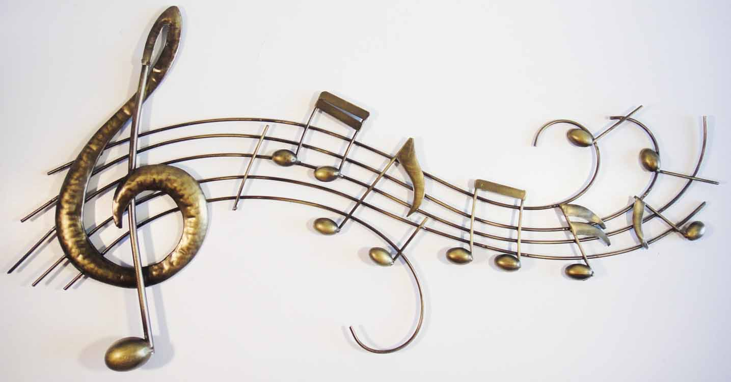 Metal Wall Art - Music Score Scroll