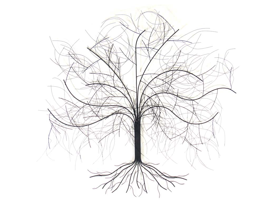 oak tree metal wall art contemporary stylish design easy to hang