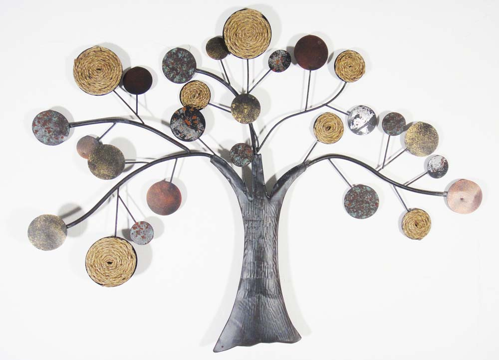 Metal Wall Art   Rope Oak Tree