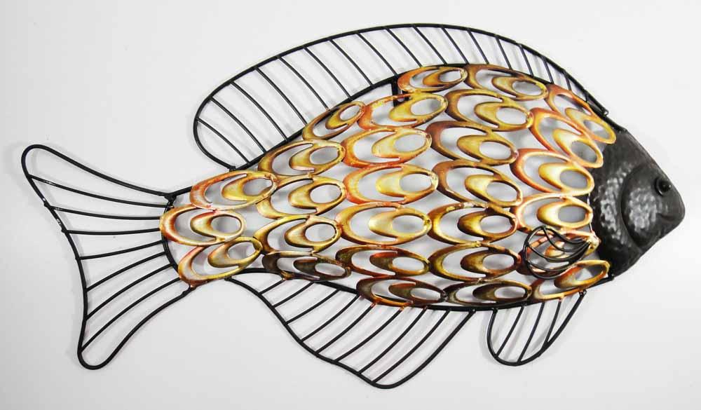 Metal Wall Art Rustic Fish