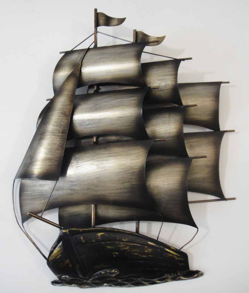 Metal Wall Art - Sailing Tall Ship Galleon | Metal Wall Art ...