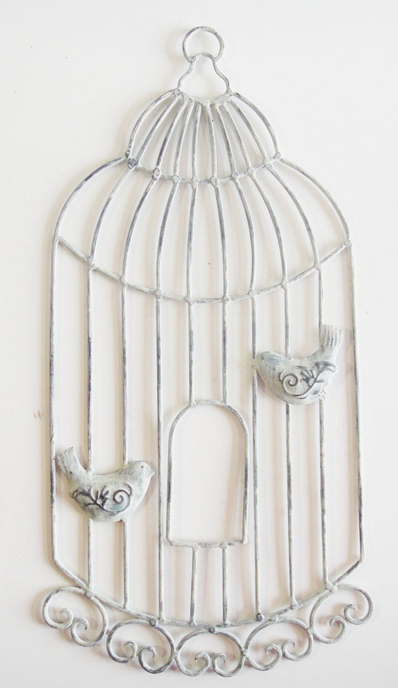 Nature inspired metal wall art metal wall art for Shabby chic wall art