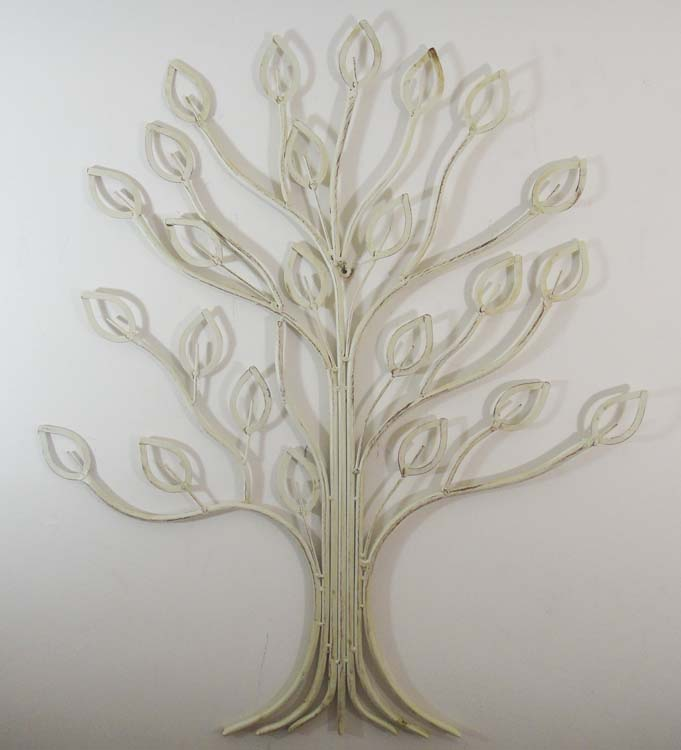 Metal Wall Art - Shabby Chic Laurel Tree | Metal Wall Art