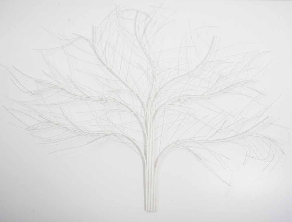 metal wall art shabby chic white oak tree