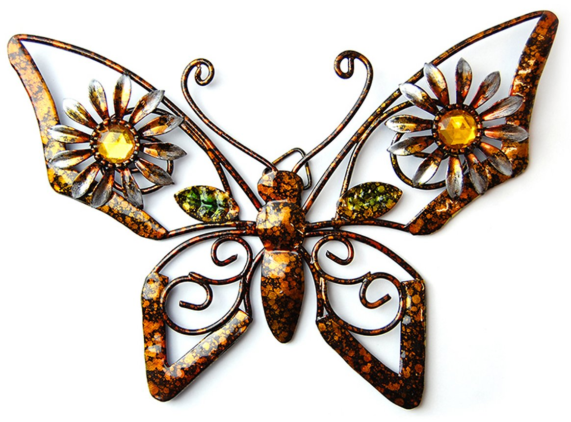 new contemporary metal wall art decor or sculpture small baby butterfly. Black Bedroom Furniture Sets. Home Design Ideas