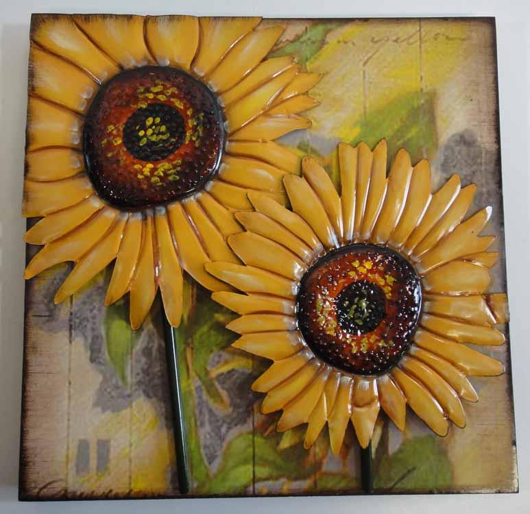 Metal Sunflower Wall Art - Elitflat
