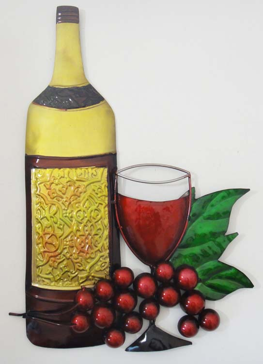 Wine Bottle Wall Art Metal Wall Art Tall Wine