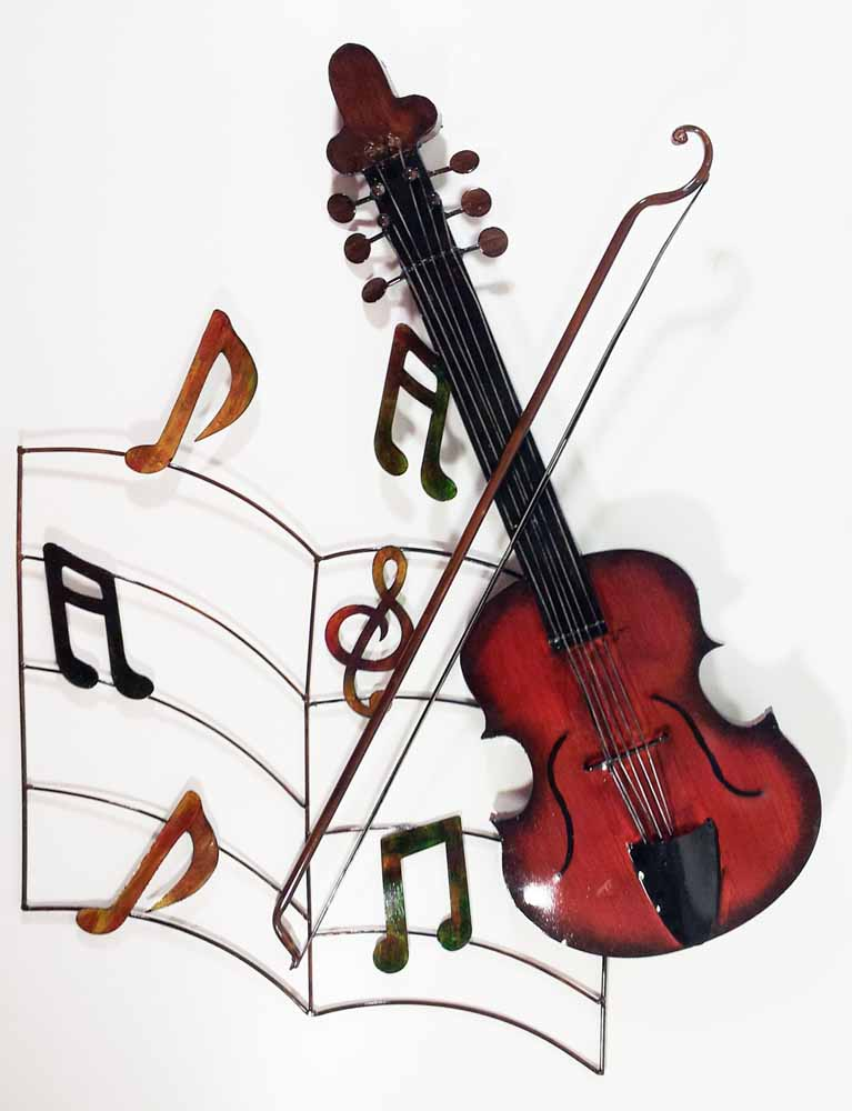 Metal Wall Art - Violin Fiddle Music Page