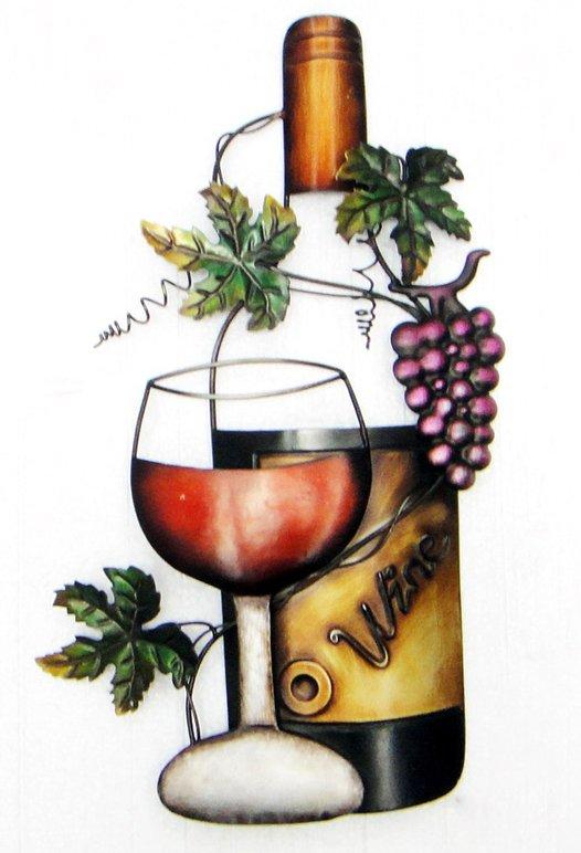Wine Bottle Metal Wall Art Metal Wall Art Wine Glass