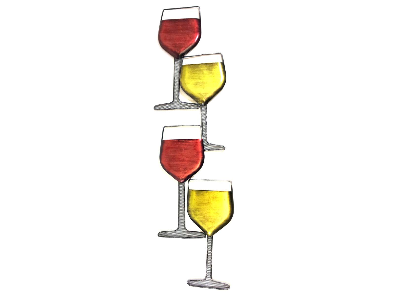 Metal Wall Art Wine Glass Tower