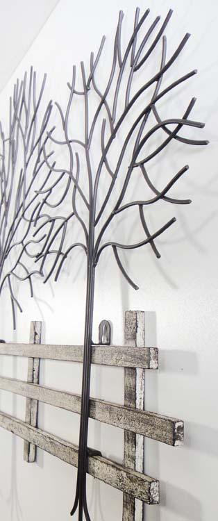 metal wall art winter tree scene: tree scene metal wall art