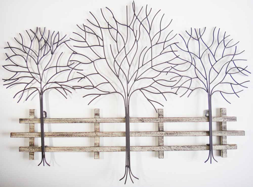 Trees woodland metal wall art metal wall art for Tree wall art