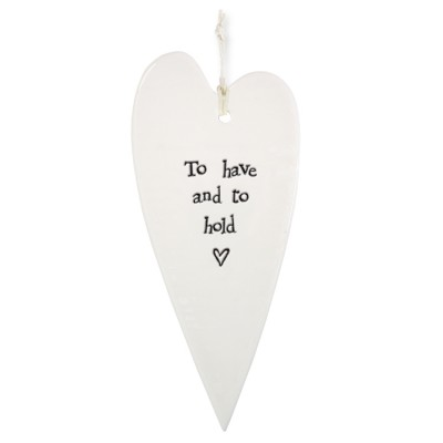 Porcelain Long Heart - East Of India To Have And To Hold