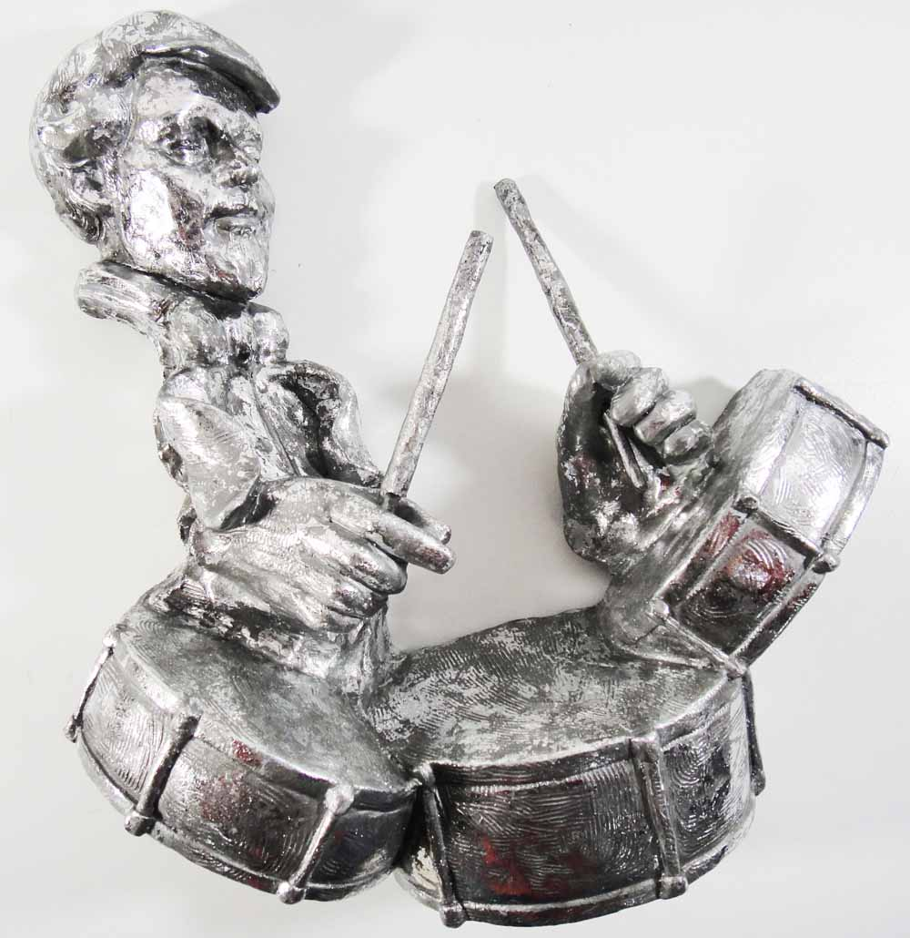 Resin Wall Art Drummer Musician