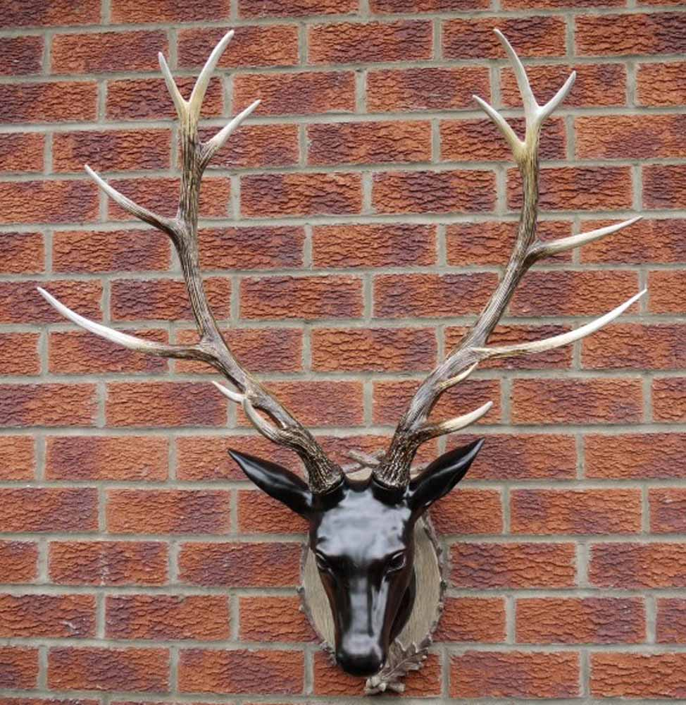 Resin Wall Art resin wall art - large stag head trophy