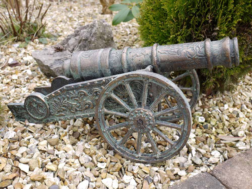 Small Cast Iron Ornamental Cannon