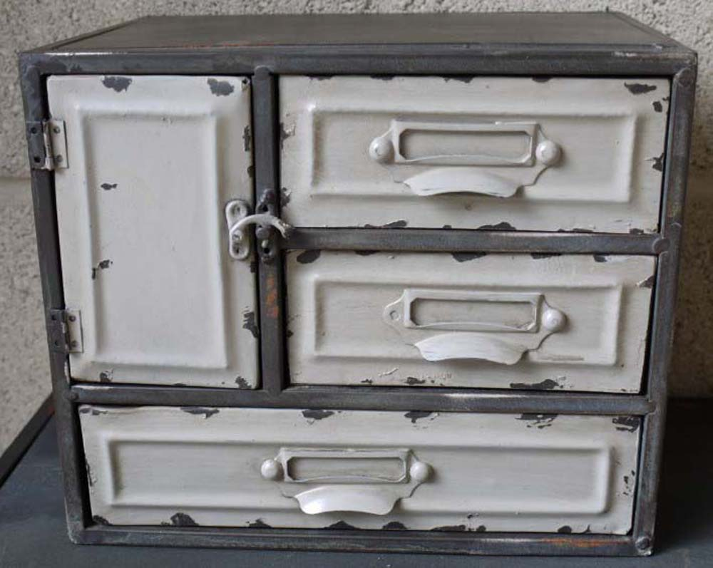Small Industrial Metal Cabinet 3 Drawers