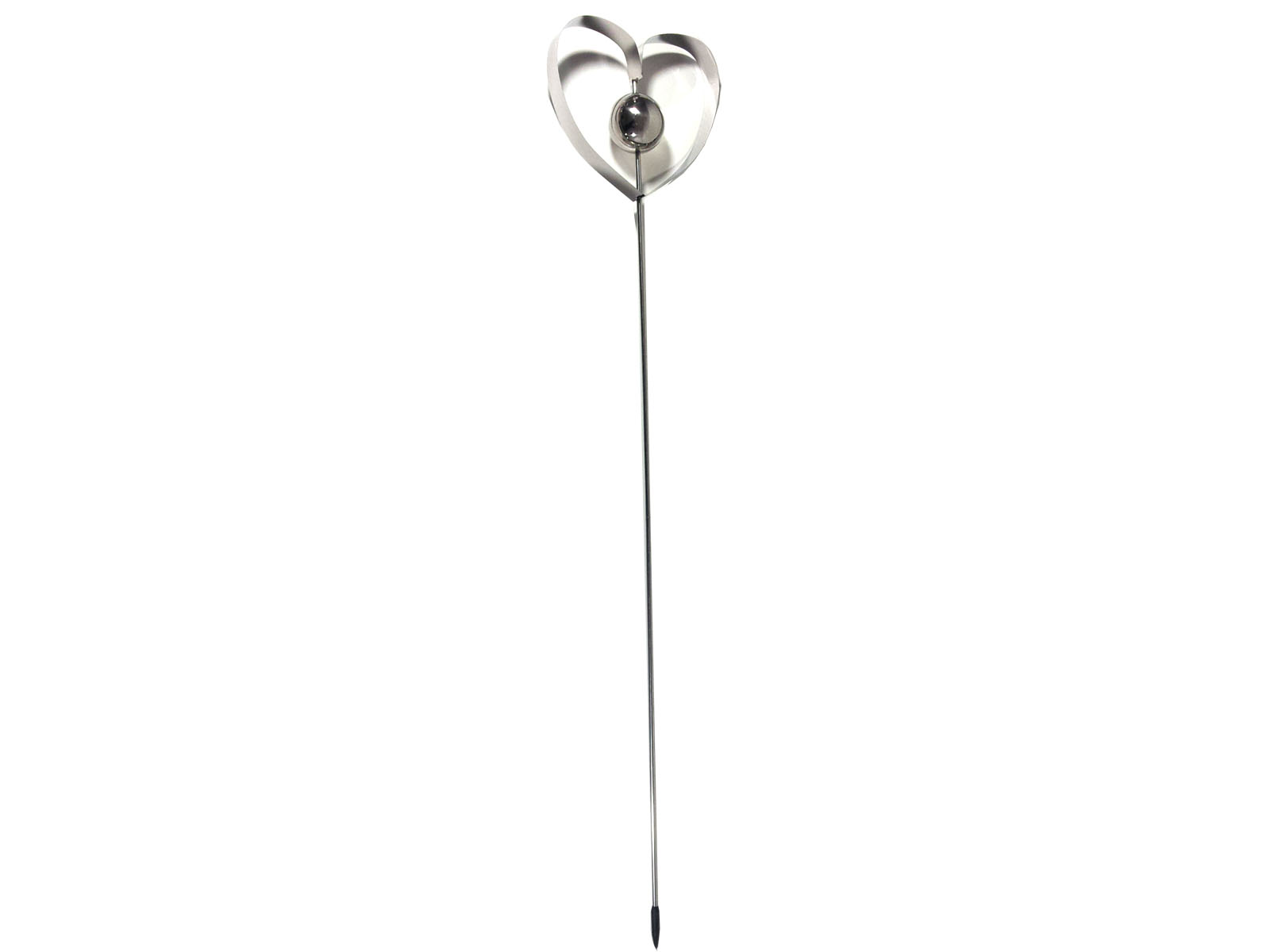 Stainless Steel Plant Stakes : Stainless steel garden stake love heart globe