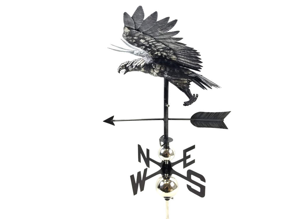 Stainless Steel Garden Weathervane - Flying Eagle Design