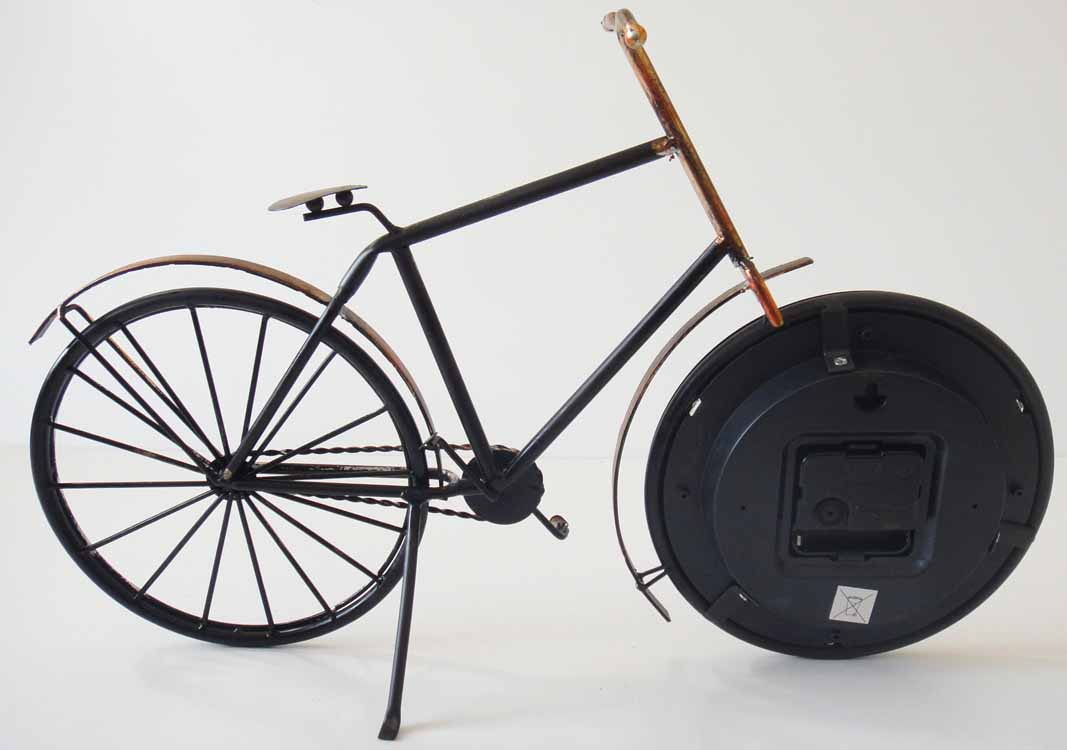 Table Clock - Metal Bicycle Clock