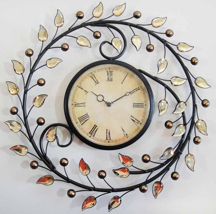 Art Wall Clock Metal Art Wall Clock With