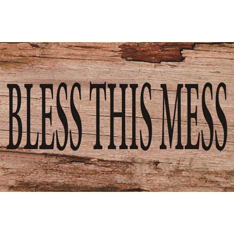 Wooden Wall Art - Bless This Mess Sign