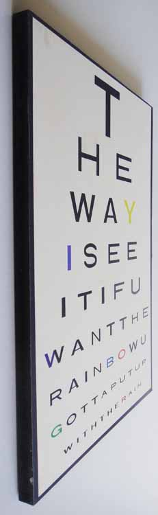 Wooden Wall Art - Rainbow Eye Chart Sign