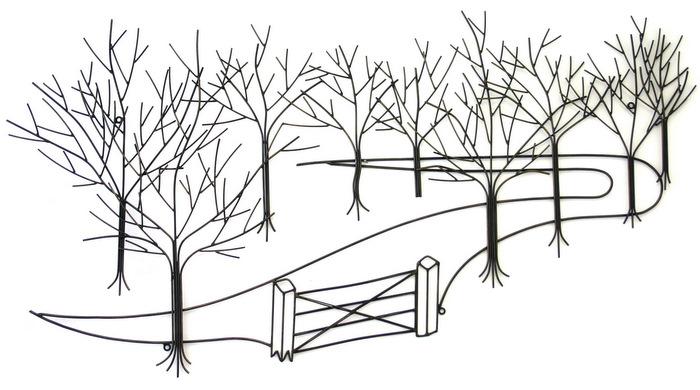 Trees Woodland Metal Wall Art Metal Wall Art Contemporary Art Range Brilliant Wall Art