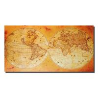 Canvas Wall Art - World Map Explorer