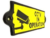 Cast Iron Sign - CCTV Security Sign