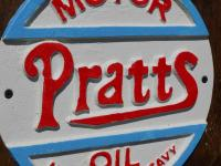 Cast Iron Sign - Pratts Motor Oil