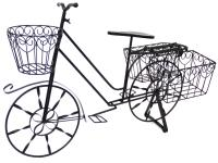 Garden Bicycle Planter - Black