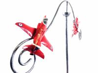 Metal Garden Wind Spinner - RAF Red Arrows