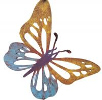 Metal Rustic Decorative Hanging Bell - Butterfly Design