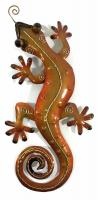 Metal Wall Art - Small Gold Gecko Wall Decor