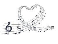 Metal Wall Art - Heart Music Note Scroll