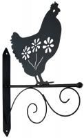 Metal Wall Bracket - Chicken Design