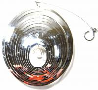 Large Oval Stainless Steel Wind Spinner With Crystal