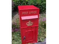 Replica Wall Mounted Royal Mail Crown Emblem Post Box Or Letter Box - Red