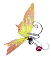 Small Metal Hanging Ornament With Bell - Butterfly