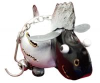Small Metal Hanging Ornament With Bell - Sheep