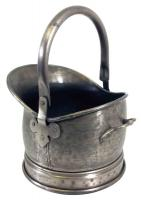 Small Pewter Finish Helmet Coal Scuttle Bucket