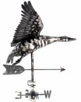 Stainless Steel Garden Weathervane - Flying Duck Design