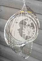 Stainless Steel Sun, Moon and Stars Wind Spinner